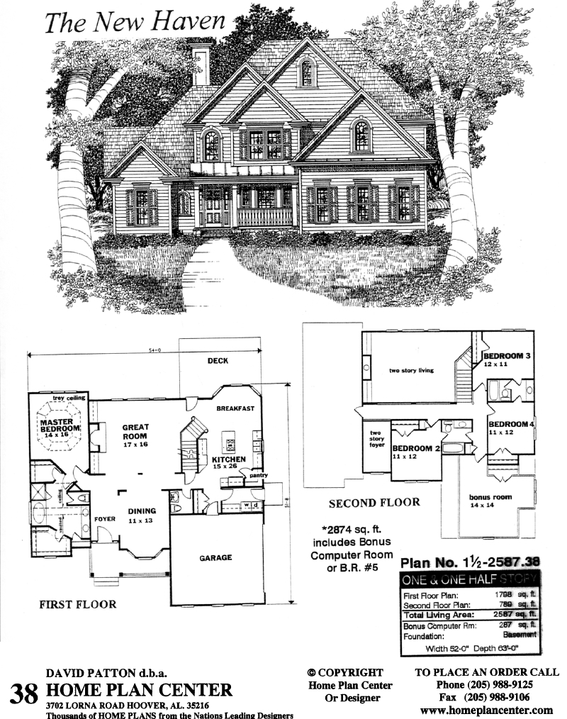 Home Plan Center 1 1 New Haven
