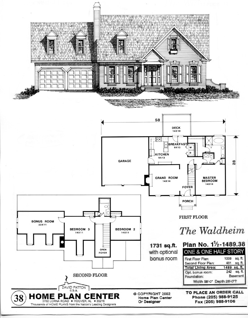 Home Plan Center 1 1 Waldheim