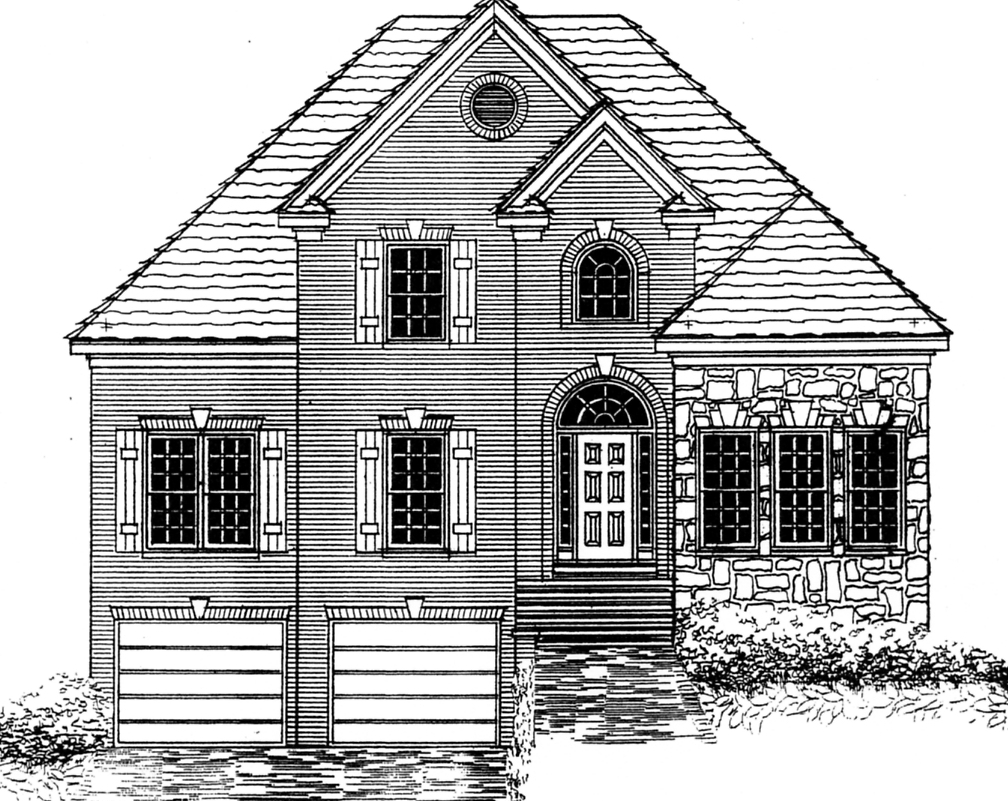 Home plan center 1 1 sarah for One and one half story house plans