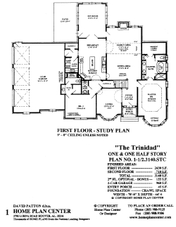 Home plan center 1 1 2 3140 trinidad for 1 1 2 story floor plans
