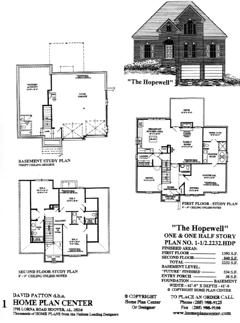 Home plan center 1 1 2 2250 cp clinton for One and half story house plans