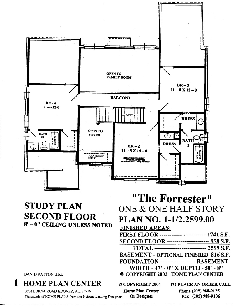 Home plan center forrester second floor for Home plans com