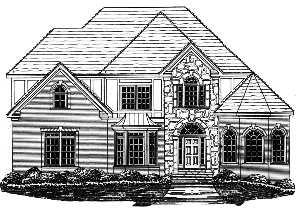 Home plan center 1 1 2 2865 preston for One and a half story homes