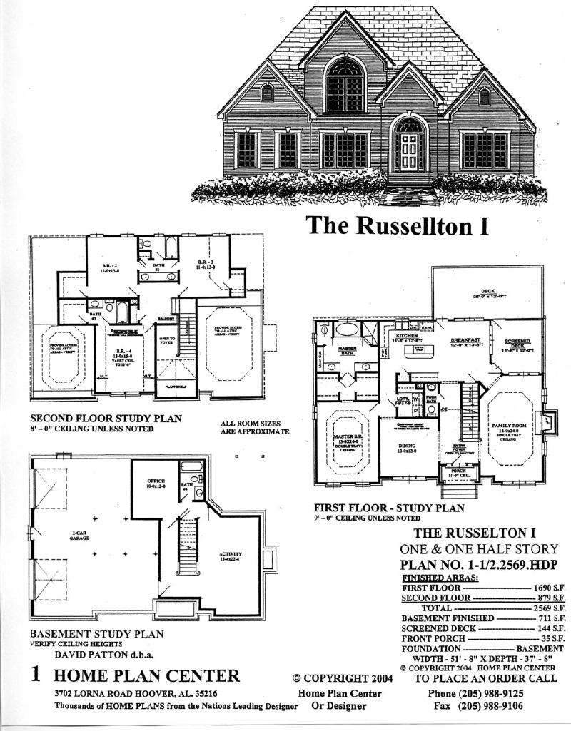 Home plan center half2569 russelton i for Story and a half plans