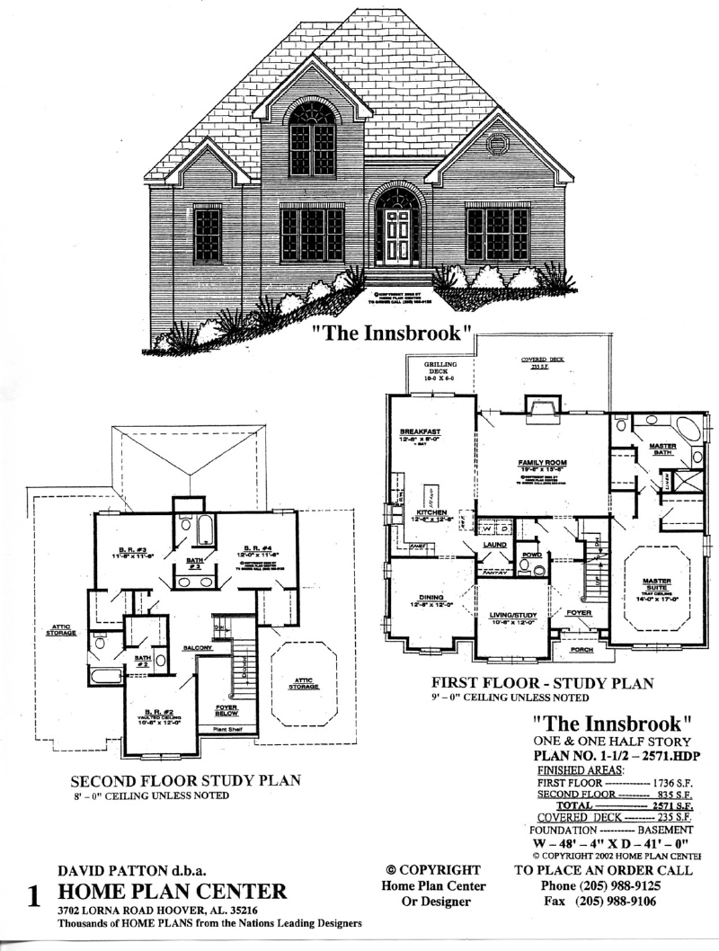 Home plan center 1 1 2 2571 innsbrook for 1 1 2 story floor plans